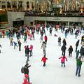 Rockefeller Center Skating Rink New York City by William Rogers