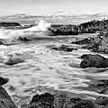 Rocky Asilomar Beach In Monterey Bay At Sunset. by Jamie Pham