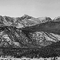 Rocky Mountain National Park Panorama Black White by James BO Insogna