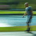 Rollerblading In Forest Park by Garry McMichael