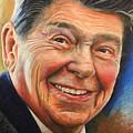 Ronald Reagan Portrait by Robert Korhonen
