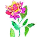 Rose, Watercolor Painting by Irina Afonskaya