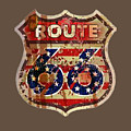Route 66 T-shirt by Herb Strobino