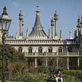Royal Pavilion And Gardens In Brighton by Philip Pound