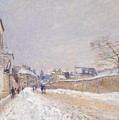 Rue Eugene Moussoir At Moret - Winter by Alfred Sisley