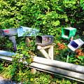 Rural Mailboxes  by Jeelan Clark