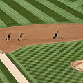 Safeco Field Abstract Patterns With Ground Crew by Jim Corwin