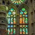 Sagrada Familia Stained Glass Barcelona by Adam Rainoff