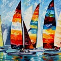 Sail Regatta by Leonid Afremov