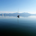 Sailing Boats In Chiemsee Lake In Germany by Jirawat Cheepsumol