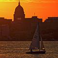 Sailing - Lake Monona - Madison - Wisconsin by Steven Ralser