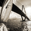 Sailing On The Charleston Harbor Beneteau Sailboat by Dustin K Ryan
