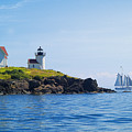Sails Off Curtis Island Light by Neil Doren