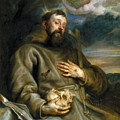 Saint Francis Of Assisi In Ecstasy by Anthony van Dyck