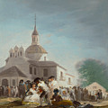 Saint Isidore's Day At The Saint's Hermitage by Francisco Goya