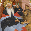 Saint Jerome Extracting A Thorn From A Lion's Paw by Master of the Murano Gradual