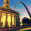 Saint Louis Arch And Cathedral At Dawn by Gregory Ballos