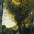 Saint Sebastian Succored By The Holy Women by Jean Baptiste Camille Corot
