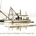 Salvage Barge, Delaware River, Philadelphia, C.1900 by A Gurmankin