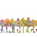 San Diego California Skyline by Marlene Watson