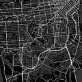 San Francisco California Usa Dark Map by Jurq Studio