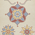 "San Juan Capistrano Mission Ceiling Decoration From The Portfolio ""decorative Art Of Spanish California"" by American 20th Century"