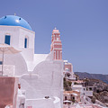 Santorini Oia Blue Domed Church by Antony McAulay