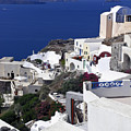 Santorini Overview by Sally Weigand