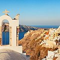 Santorini Skyline Bell Tower by Songquan Deng
