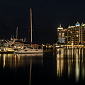 Sarasota Bay After Dark by Claudia Abbott