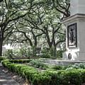 Historic Wright Square - Downtown Savannah Georgia by Dawn Braun