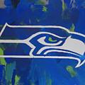 Seahawks Fan by Candace Shrope