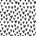 Seamless Pattern With Hand Drawn Hearts.  by Sandy Sheni