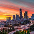 Seattle On Firer by Trong Nguyen