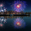 Seattle Skyline And Fireworks by William Freebilly photography