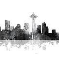 Seattle Washington Skyline by Marlene Watson
