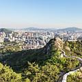 Seoul City Wall From Inwangsan Mountain In South Korea Capital C by Didier Marti