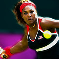 Serena Williams Eye On The Prize by Brian Reaves