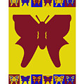 Serendipity Butterflies Brickgoldblue 5 by Christine McCole