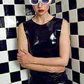 Sexy Woman In Latex Bath by Elena Saulich
