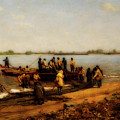 Shad Fishing On The Delaware River by Thomas Eakins