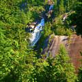 Shannon Falls - Cascading Beauty  by Ola Allen