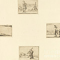 Sheet Of Etchings by Style Of Jacques Callot