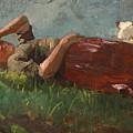 Shepherd Girl Resting by Winslow Homer