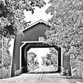 Shimanek Covered Bridge -surreal Bw by Scott Pellegrin
