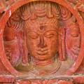 Shiva's Face On A Pillar At Chand Baori by Nila Newsom