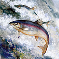 Silver Salmon by Peggy Wilson
