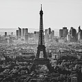 Skyline Of Paris In Black And White by Marcus Lindstrom