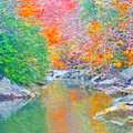 Slippery Rock Creek In Autumn by Digital Photographic Arts