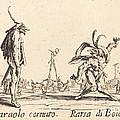 Smaralo Cornuto And Ratsa Di Boio by Jacques Callot